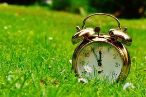 springtime clock